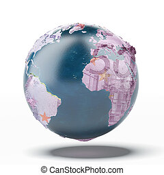 Earth with ground of euro. map provided by NASA