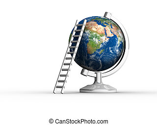 Earth with ladder
