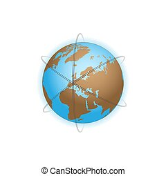 Earth with orbits