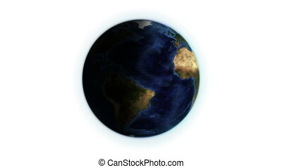 Earth with shadow in movement with Earth image courtesy of...