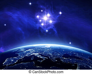 Earth with the stars