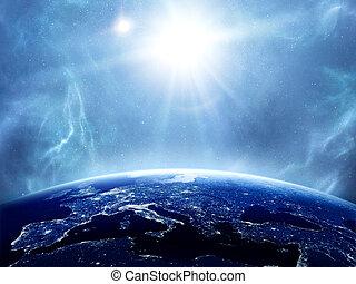 Earth with the Sun