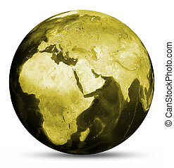 Earth yellow map