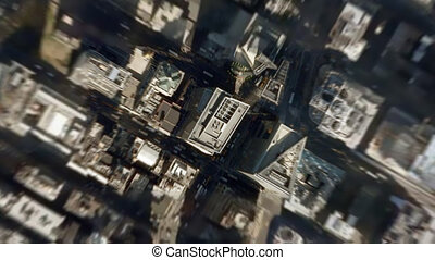 earth zoom from NY to space - very dynamic earth zoom from...