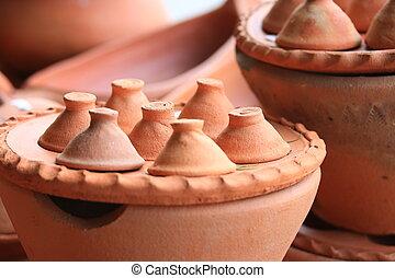 Earthenware brown - for dessert Thailand.