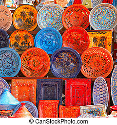 earthenware in tunisian market - earthenware in the market