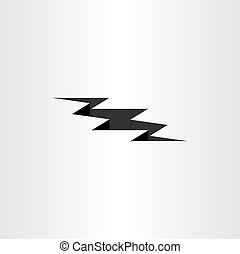 earthquake crack vector icon design element