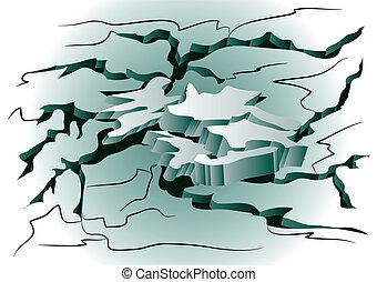 earthquake. cracked ground - earthquake. abstract background...