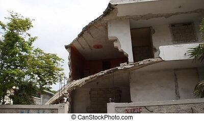 earthquake damage in Port-au-Prince Haiti