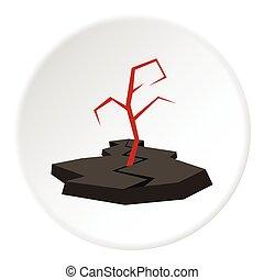 Earthquake icon, flat style - Earthquake icon. Flat...