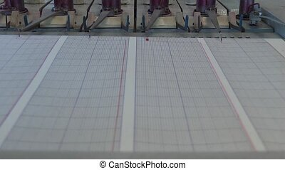 seismograph recorded volcanic activity.