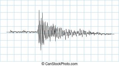 earthquake symbol - earthquake wave symbol