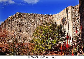 earthquake., zburzony, serra, san, 1812, ściana, gruzy,...