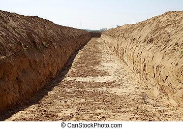 earthwork, in, ländlich, bereiche