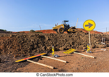 Earthworks Compactor Machine Landscape - Construction ...