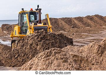 Earthworks Construction Dozer Machine