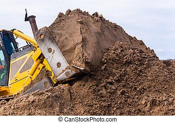 Earthworks Dozer Machine Sand Scoop