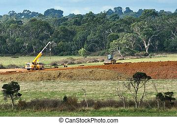 Earthworks for freeway in Australia