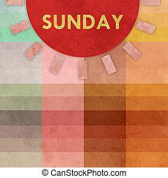 Earthy background with sun symbol and design element. Earthy geometric background, may use for schedule or note or message.