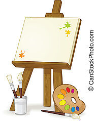 Easel - Blank easel vector illustration