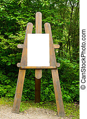 Easel in the forest
