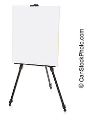 easel or flipchart isolated on white - easel isolated on...