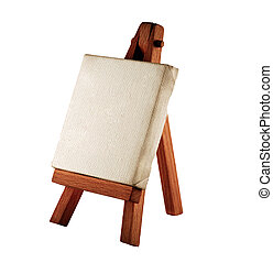 Easel - a customizable blank canvas on a wooden tripod