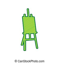 Easel sign. Vector. Lemon scribble icon on white background. Isolated