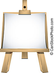 Easel with a blank paper