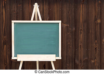 easel with blank chalkboard
