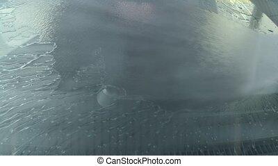 Eashing dirty car closeup footage - Eashing dirty car close ...
