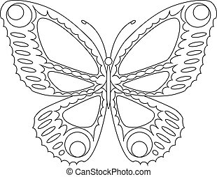 Easily editable butterfly