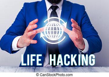 easily., techniques, signification, intelligent, vie, accomplir, simple, texte, concept, hacking., tâche, écriture