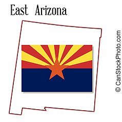 East Arizona Map and Flag