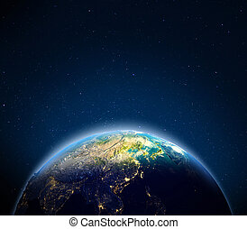East Asia. Elements of this image furnished by NASA. 3d rendering
