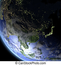 East Asia from space