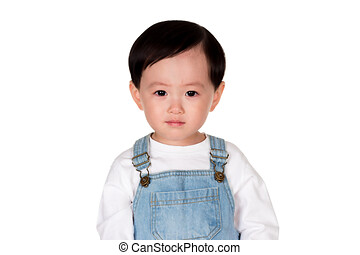 East Asian male studio portrait of a young child