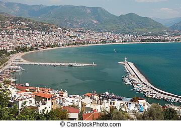 East coast beach resort of Turkey Alanya - Summer vacations...