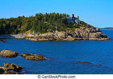 A view off the coast of Maine