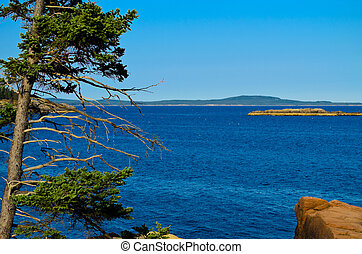View off the coast of Maine