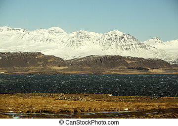 East coast of Iceland in wintertime