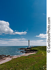 East coast of Scotland - The Scurdie Ness Lighthouse o the...