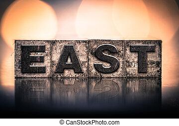 East Concept Vintage Letterpress Type