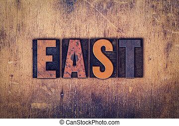 East Concept Wooden Letterpress Type