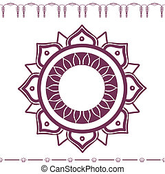 east flower ornament vector eps