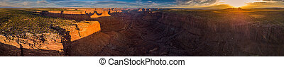 East Fork Shafer Canyon near Dead Horse Point State Park Canyonlands Utah USA