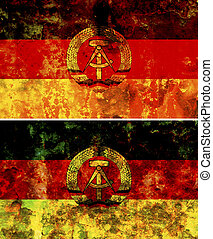 east germany flag - some very old grunge flag of east...