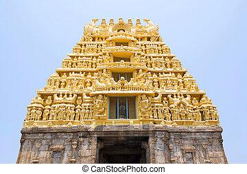 East Gopuram at the entrance, Chennakesava temple, Belur,...