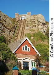 East Hill lift, Hastings - The Victorian funicular railway...