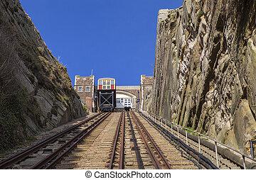 East Hill Lift Railway in Hastings